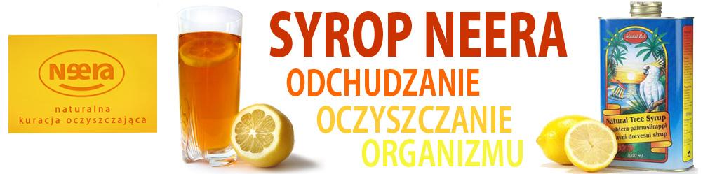 Kuracja odchudzająca - Syrop NEERA oczyszczanie organizmu - DETOX 1000 ml